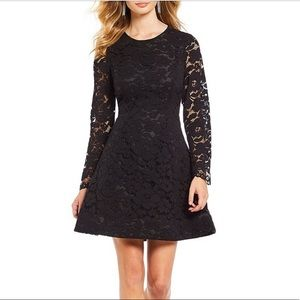 Laundry by Shelli Segal Lace A Line Black Dress 4